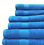 Blue Aster : Jc Penny Home - Solid Bath Towels - 6 Piece Towel Set (Blue Aster)