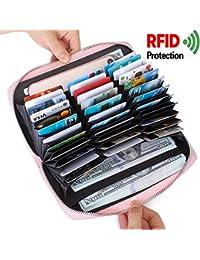 Monedero de las señoras de la tarjeta de crédito Cartera de cuero RFID de bloqueo Multi