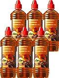 Grill Anzünder Gel für alle Arten von Kohle - Brennpaste 1000 ml Flaschen Tischgrill flüssiges Anzündgel Feuergel für Grill und Kamin geruchlose Brennpaste