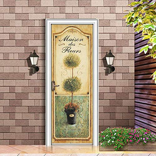 Ysfu stickerdamuro adesivi per porte per camera da letto decorazione per la casa murale pastrol finestra rimovibile fai scorrere il portapenne rimovibile