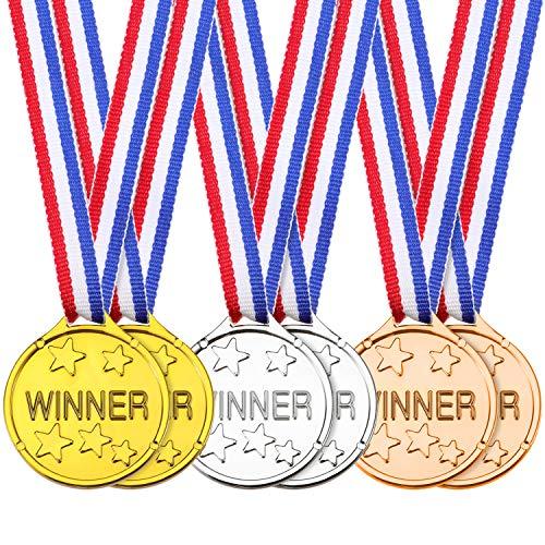 24 Stücke Kinder Gewinner Medaillen Kunststoff Gold Silber Bronze Gewinner Vergeben Medaillen für Party Favor Dekorationen Auszeichnungen -