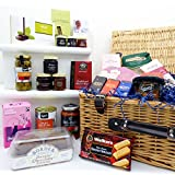 Exquisite Wicker Food Hamper - 25 items - Gift Ideas for Black Friday,Cyber Monday, Christmas, Fathers Day, Valentines, Mothers Day, Birthday, Men, Him, Dad, Her, Mum, Thank you, Wedding Anniversary, Engagement,18th, 21st, 30th, 40th, 50th, 60th, 70th, 80th, 90th