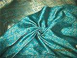 thefabricfactory wendbar Brokat Stoff grün x Gold