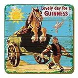 McLaughlin's Irish Shop Guinness Untersetzer aus Holz. Motiv: Horse on a Carriage