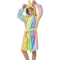 Ruiuzioong Accappatoio Morbido Per Bambini Unicorno Pigiama In Pile Con Cappuccio Vestaglia Lussuosa Caldo Indumenti Da…