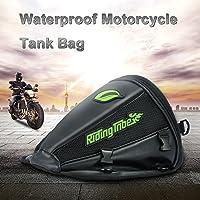 KKmoon - Bolsa sobredepósito para motocicleta. Bolsa de viaje impermeable. Mochila de viaje, para herramientas, con sujeción para el colín.