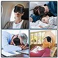 Schlafmaske Damen und Herren, Paitree 3D Magnettherapie Augenmaske für komplette Dunkelheit und freies Bewegen der Augen, komfort Schlafbrille hilft bei Schlaflosigkeit für alle Kopfgößen von Milake