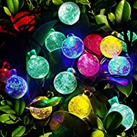 Solar String Lights, OxyLED 30 LED Garden Patio Outside String Lights,Waterproof Indoor/Outdoor String Lights from OxyLED