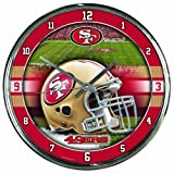 Wincraft NFL Chrome Uhr, 30,5x 30,5cm, San Francisco 49Ers, Einheitsgröße