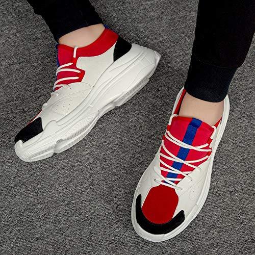 JIAODANBO Scarpe Da Ginnastica Tide Shoes Ins Scarpe Super Fire Scarpe Vecchie Scarpe Casual Da Uomo Aj1 Scarpe Uomo Small Scarpe Bianche Thick Bottomicon, Eu35