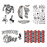 The Joker Temporary Tattoos Suicide Squad Costume Halloween Fancy Dress Batman (A)