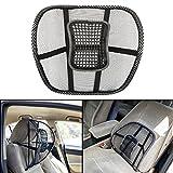 #6: Autofy Universal Full Ventilation Car Back Rest/Seat Cushion (Black)