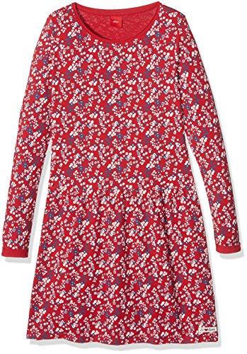 s.Oliver Mädchen Kleid 53.709.82.2728, Rot (Kirsche Aop 35A0), 104 (Kleid Kirsche Roten)
