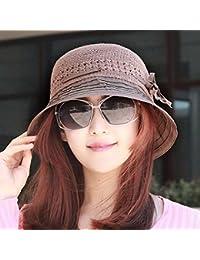 RangYR Sombrero De Mujer Sra. Cap Gorra De Sol Plisada De Verano Sombrero  De Sol c6de4d5fe76c