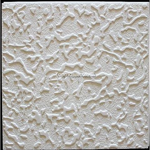 Azulejos de techo de poliestireno Passat ( paquete de 72 pc / 18 metros cuadrados ) Blanco