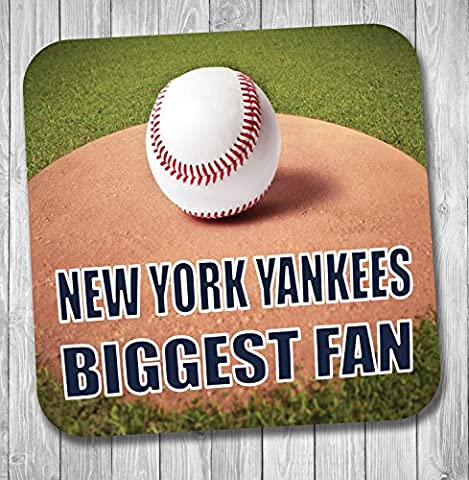 New York Yankees Biggest Fan Baseball Coaster–Cadeau d'anniversaire/cadeau