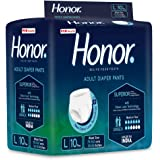 Honor Adult Diaper Pants, Large - 10 Count (75-140 Cms  30-55 inches)