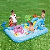 Piscina per bambini,piscina estiva per bambini gonfiabili, ispessimento della famiglia piscina di pagaia del grande stagno marino eccellente della piscina,blu Piscina gonfiabile