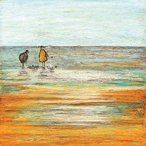 Sam Toft Leinwanddruck, Holz, Mehrfarbig, 40 x 40 cm