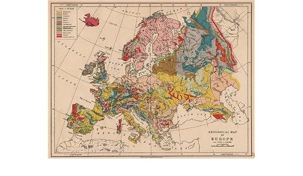 Europe Geological Quaternary Tertiary Cretaceous Jurassic C