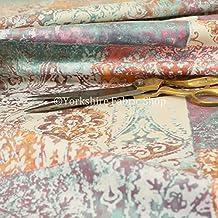 cb9aff7ea tela de tapicería suave impresa con diseño tradicional de damasco,  Multicolor, ...