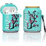 YIGEYI Siliconen Case Compatibel met Airpods 1 & 2 Grappige Leuke 3D Cartoon Cover [Ingeblikt Bier] (Arizona Drankje)