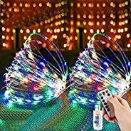 Etmury Fairy String Lights 2 10 m, 100 LED Fairy Lights, 8 Modes, Outdoor Lighting, USB Wire Copper Wire with