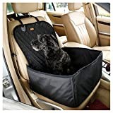 Venus Wolf Autositze Sitzbezug Autoschutzdecke Hunde Auto Schutzdecke für Haustier Hund Katze Pet dog Oxford Tuch Vordersitzbezug Schutz matte Schwarz (45X45X58CM)
