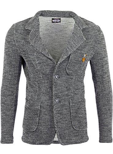 Reslad Herren-Sakko Sportlich Jakett Anzug Jacke Slim Fit Freizeit Blazer-Herren RS-1421 Anthrazit 2XL
