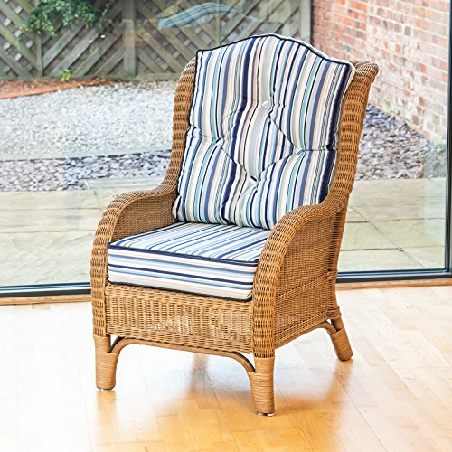 Alfresia Denver Wicker Reading Bedroom Chair With Luxury