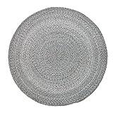 Bloomingville Rug, Grey, Polyester Ø120 cm