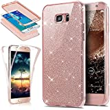 Coque Galaxy S7 Edge, Étui Galaxy S7 Edge, Galaxy S7 Edge Case, ikasus® Coque Galaxy S7 Edge Étui de protection complet avant + arrière 360 degrés Étui en silicone souple Bling Pétillant Brillant Briller Housse Téléphone Couverture TPU Ultra Mince Premium Semi Hybrid Crystal Clear Flex Soft Skin Extra Slim TPU Case Coque Housse Étui pour Samsung Galaxy S7 Edge - Or rose