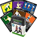 Flexibility Exercise Cards by Stack 52. Learn Static and Dynamic Stretches. Video Instructions Included. Perfect for Workout Warm Ups and Cooling Down. Increase Joint Range of Motion Safely. from Stack 52