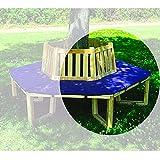 Baumbank 360° Sitztmöbel mit oder ohne Auflage Holz Gartenmöbel, Zubehör:Sitzauflage