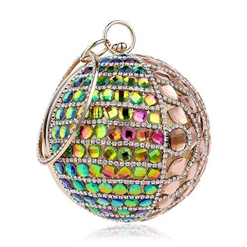 Sacchetto di sera del vestito da banchetto di sfera delle signore della borsa Gold