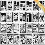 Schablonen für DIY Scrapbooking Bullet Journal Schablone Buchstaben Notizbuch Tagebuch Scrapbook Zeichnen Stempel Album Deko Prägung Papier Karte Schule Schreibwaren Zubehör Aushöhlung 30 Stück
