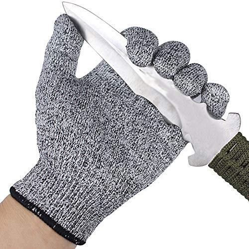 TYI 1 Paar komfortable schnittfeste Handschuhe, Sicherheitshandschuhe zum Schneiden von Fischfilet, Austernschälen, Fleischschneiden und Holzschnitzen 21-22,5 cm