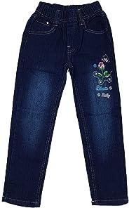 Unbekannt Bequeme Mädchen Jeans, Stretchjeans mit rundum Gummizug, M160e
