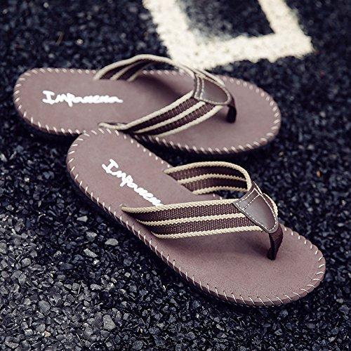 Men's tongs, chaussons d'été, les pieds, les tendances, les chaussures de plage en plein air Green (stitching)