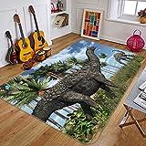 3D Dinosaurier Wiese 253 Rutschfest Teppich Matte Raum Matte Qualität Elegant Teppich DE, AJ WALLPAPER Seven (H40cmxB60cm【15.7