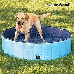 Forever Speed Piscina de Baño Ducha Plegable para Mascota Bañera Portátil para Perro/Gato Animales Azul 160X30cm