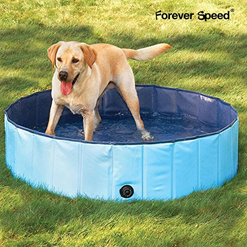 Forever Speed 80x20 Bleu Chien Chat Piscine Pliable Baignoire Baignoire Douche pour chien chat Pliable Portable Piscine Pataugeoire animal