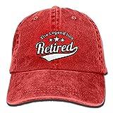 YYERINX Unisex Washed The Legend Has Retired Retro Denim Baseball Cap Adjustable Dad Hat