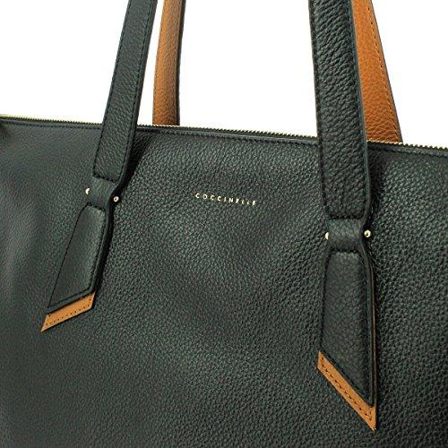 Schultertasche in leather schwarz, schwarz