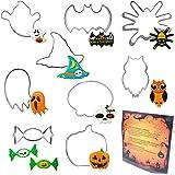 ElecMotive Set di 9 Halloween Formine per Biscotti Acciaio Inox Stampi Biscotti DIY Decorazioni Dolci Biscotti