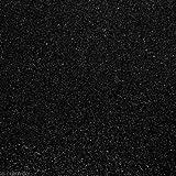Glitzerstoff-Zuschnitt Schwarz, 68 x 45 cm