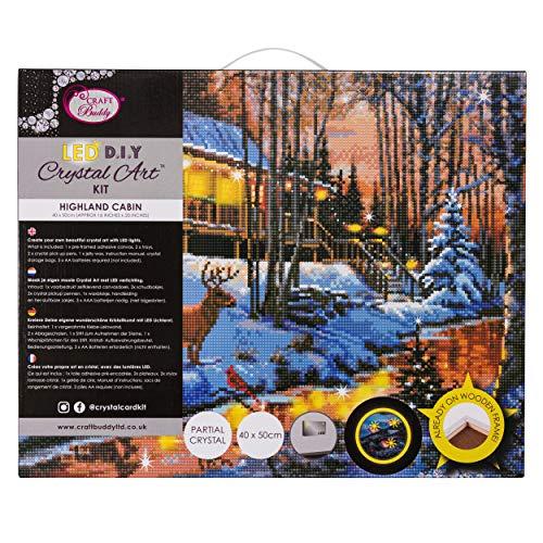 CRYSTAL ART CAK-XLED11 Hochlandhütte, Multicolor