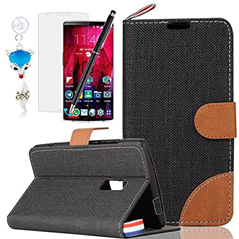 HB-Int 4 in 1 PU Holster Case Stand Function Leather Shell for OnePlus 2 5.5