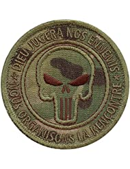 Multicam Dieu Jugera Nos Ennemis Punisher US Marine Navy Seals DEVGRU NSWDG Morale Tactical Hook&Loop Écusson Patch