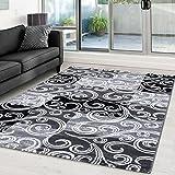 Moderner Designer Glitzer Wohnzimmer Teppich Toscana 3130 Schwarz - 120x170 cm